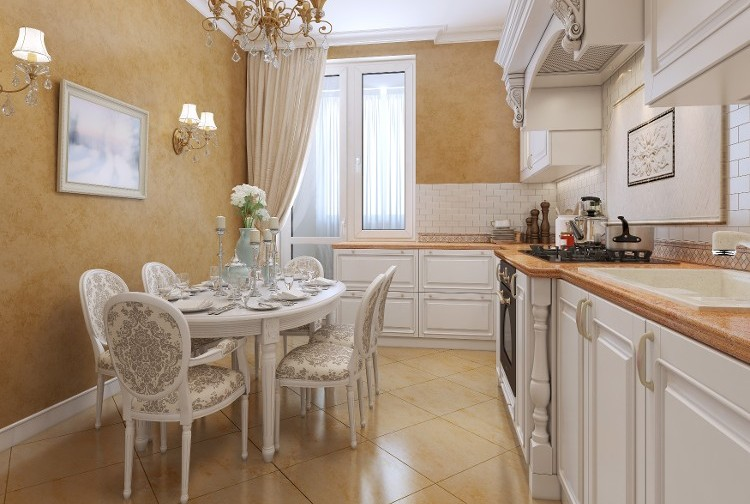 Painted Kitchen Walls - Decorative Painting